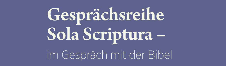 sola scriptura – im gespräch mit der bibel: hinter verschlossenen, Einladung